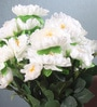 White Fabric Gorgeous Artificial Synthetic Peony Bunch by Fourwalls