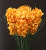 Fourwalls Yellow Synthetic Artificial Hyacinth Flower Stem - Set of 4