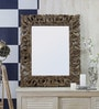 Foyer Brown Wooden Carved Mirror