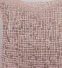 Foyer Pink Velvet 18 x 18 Inch Mesh Cushion Cover