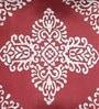 Foyer Red & Silver Silk 20 x 20 Inch Cushion Cover