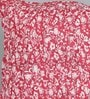 Foyer Red Cotton 16 x 16 Inch Ruched Cushion Cover