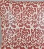 Foyer Red Linen 20 x 20 Inch Bas Cushion Cover