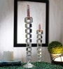 Foyer Transparent Crystal Candle Stand