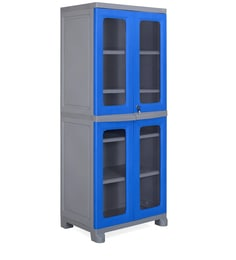 Freedom Wardrobe In Deep Blue & Grey Colour - 1498772