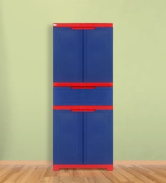 Freedom Multipurpose Cabinet With One Drawer In Blue & Red Color
