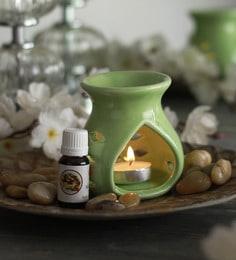 Fresh Mystic Aroma Oil With Ceramic Diffuser Pot & Tea Light Candle
