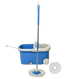 Frestol Plastic Filter Blue Cleaning Mop With Wheel