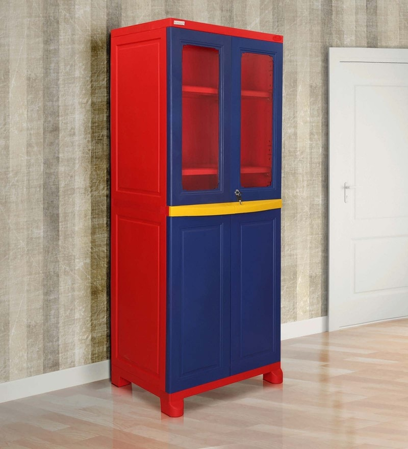Freedom Cabinet with Two Doors in Blue Colour by Nilkamal