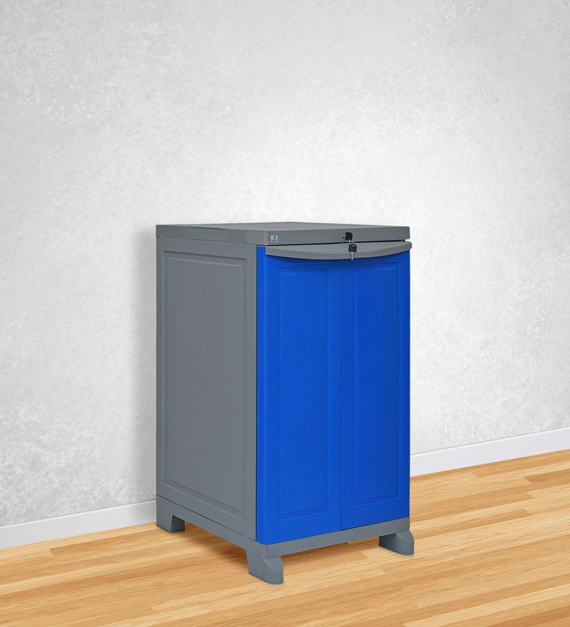 Freedom Storage Unit in Dark Blue & Grey Colour by Nilkamal