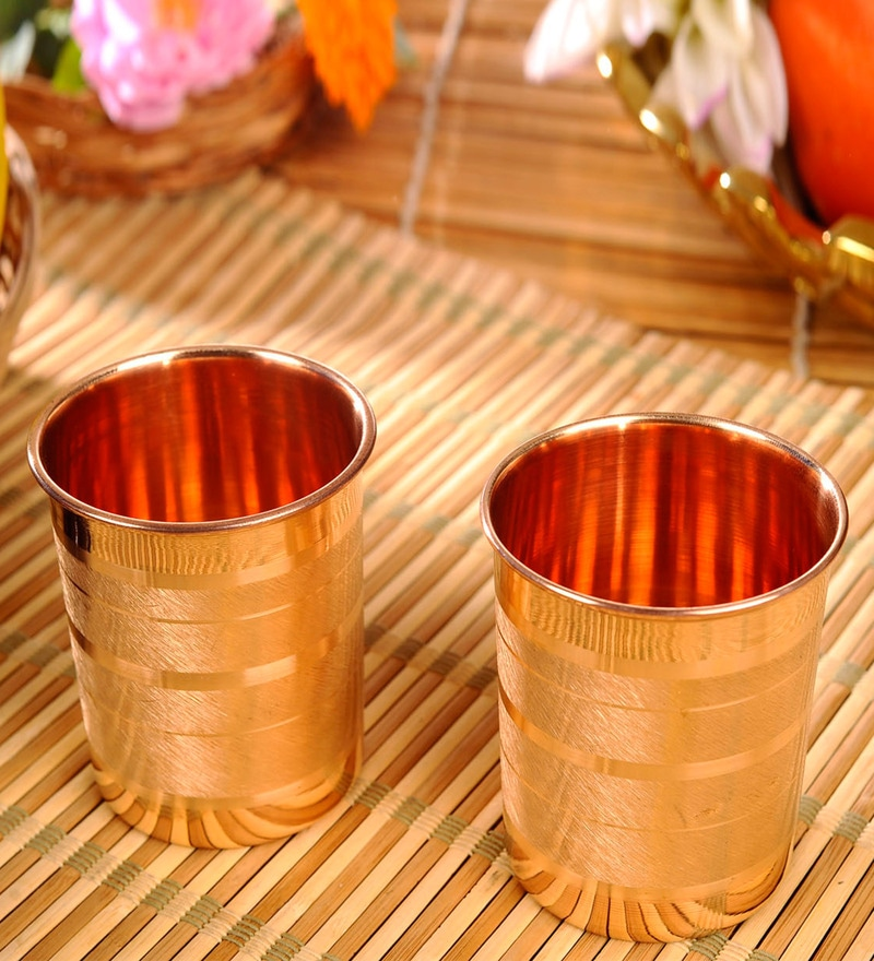 Frestol Copper 260 ML Glass - Set of 2
