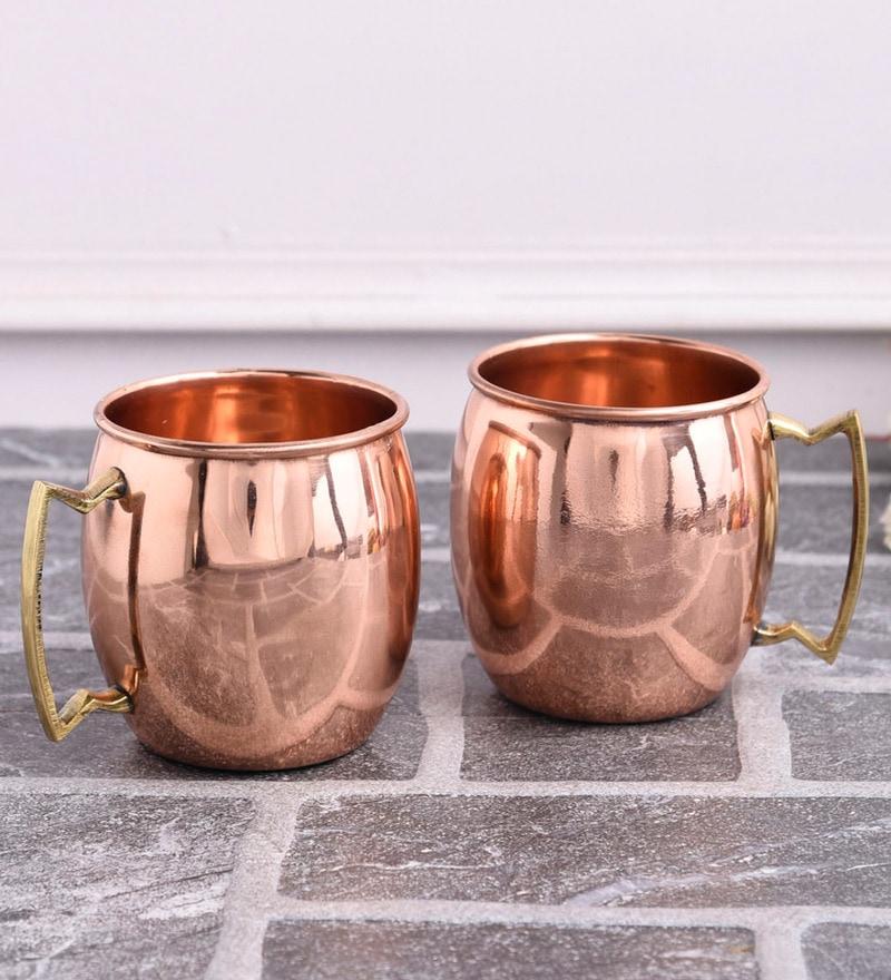 Frestol Copper 350 ML Tea Cup - Set of 2