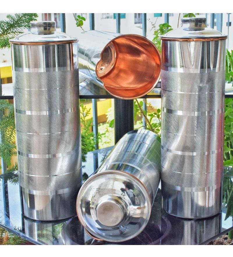 Frestol Steel & Copper 1 L Bottles - Set of 4