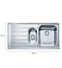 Franke Stainless Steel Kitchen Sink (Model No: Net 651)