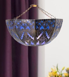 Furncoms Blue Metal Festive Lantern - 1596781