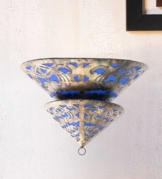 Furncoms Blue Metal Wall Light - 1596698