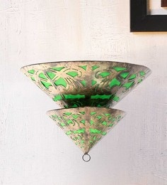 Furncoms Green Metal Wall Light - 1596697
