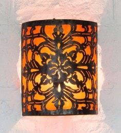 Furncoms Orange Metal Wall Light - 1596682