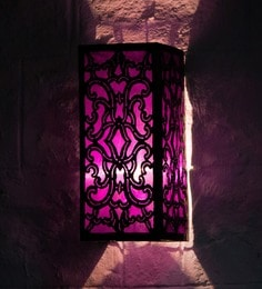 Furncoms Purple Metal Wall Light - 1596691