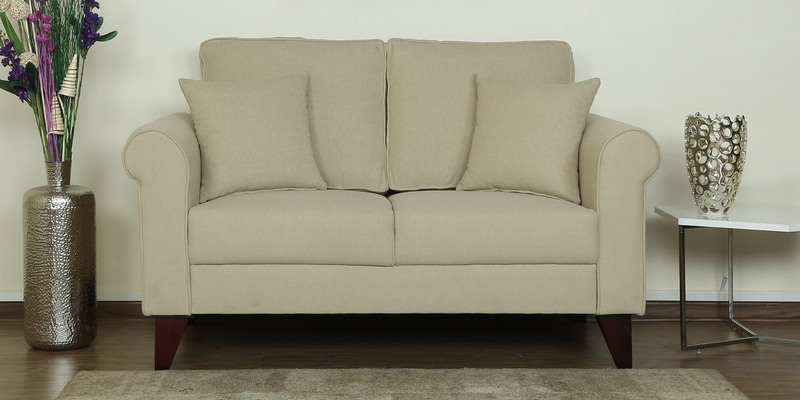 Fuego Two Seater Sofa in Beige Colour by CasaCraft