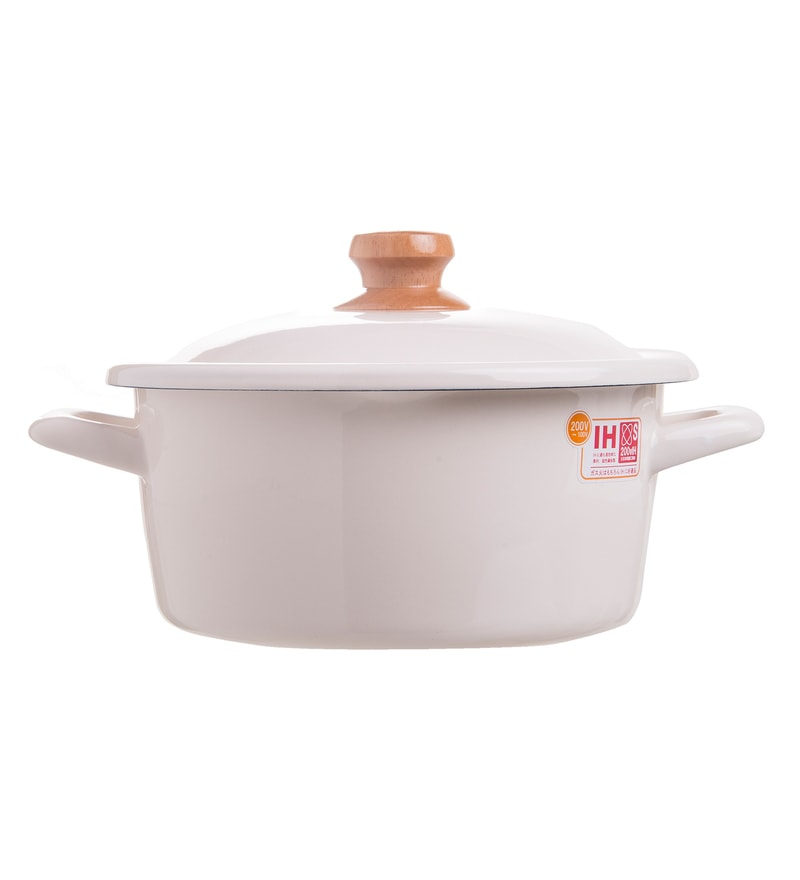 Fujihoro 2900 ML Casserole with Lid - White