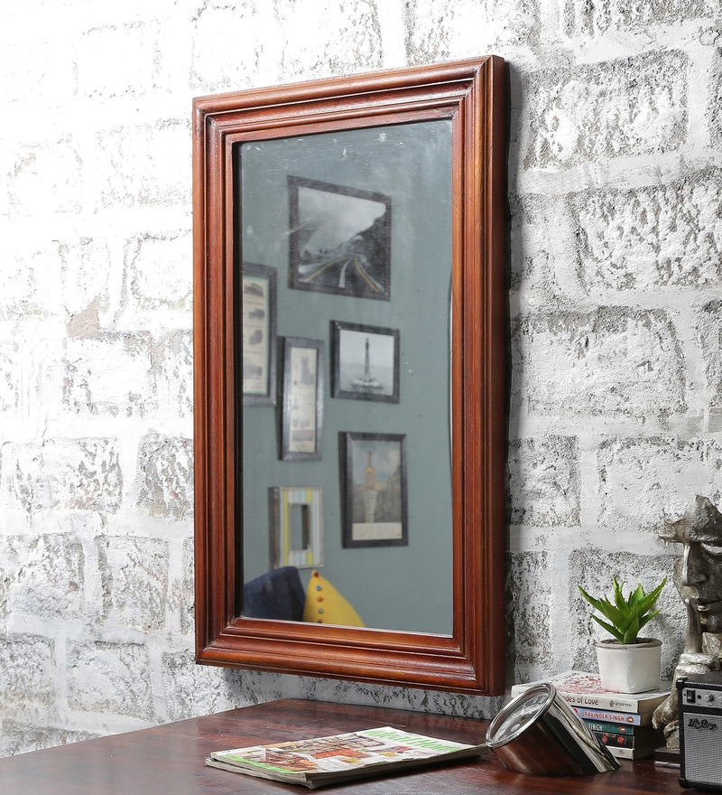 Oak Mango Wood Framed Mirror by Furniselan
