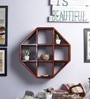 Furniselan Oak Mango Wood Wall Shelf