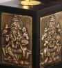 Ethnic Clock Makers Wenge Solid Wood Tea Light Holder