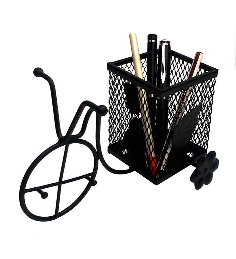 Gac Trend Black Metal Rickshaw Pen Holder