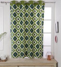 Geometric Pattern Cotton 5 Feet Window Curtain