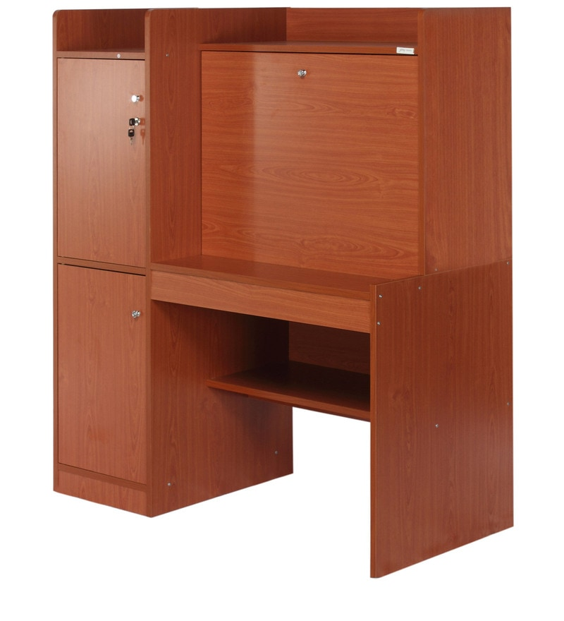 Buy Genius Study Table In Cherry Colour By Godrej Interio