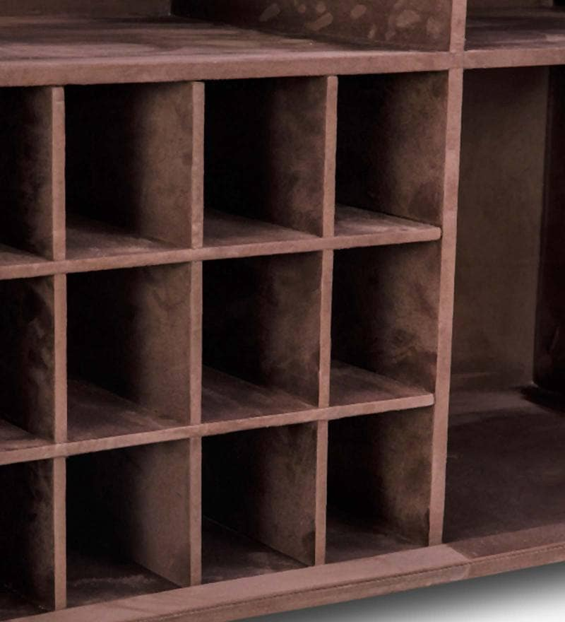 Buy Heritage Trunk Bar Cabinet In Brown Leather By Studio
