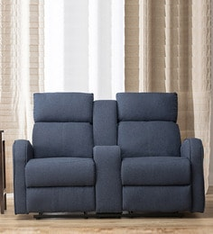 Charmant Gilbert Two Seater Recliner In Blue Colour