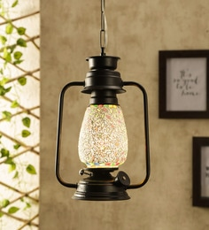 Glass Multicolour Hanging Light - 1705546