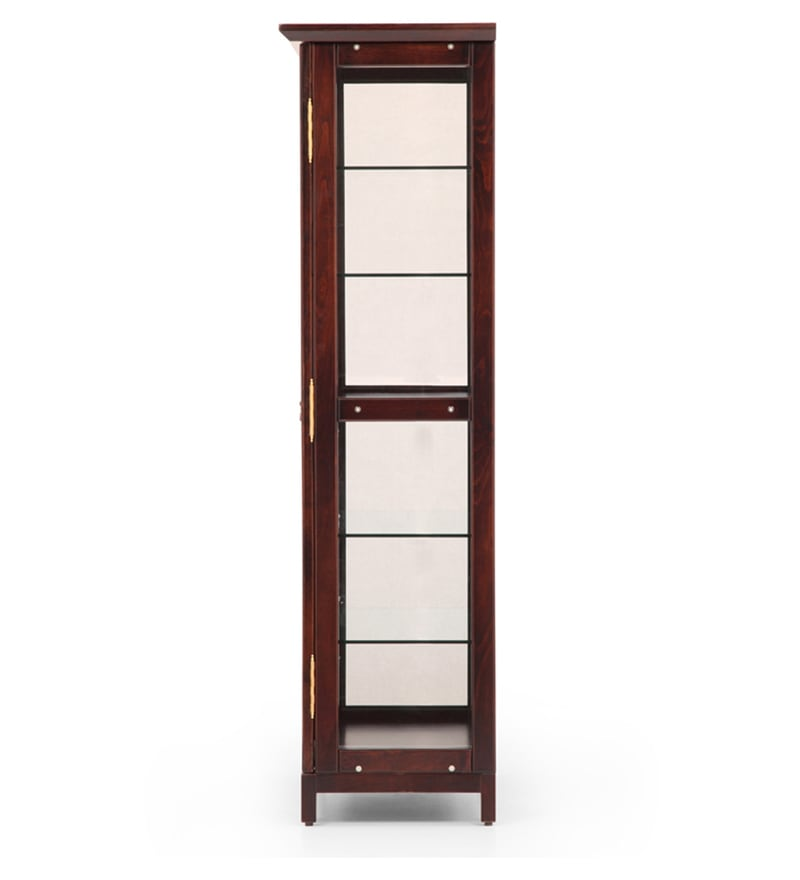 Buy Glass Display Cabinet In Ebony Finish By Ekbote