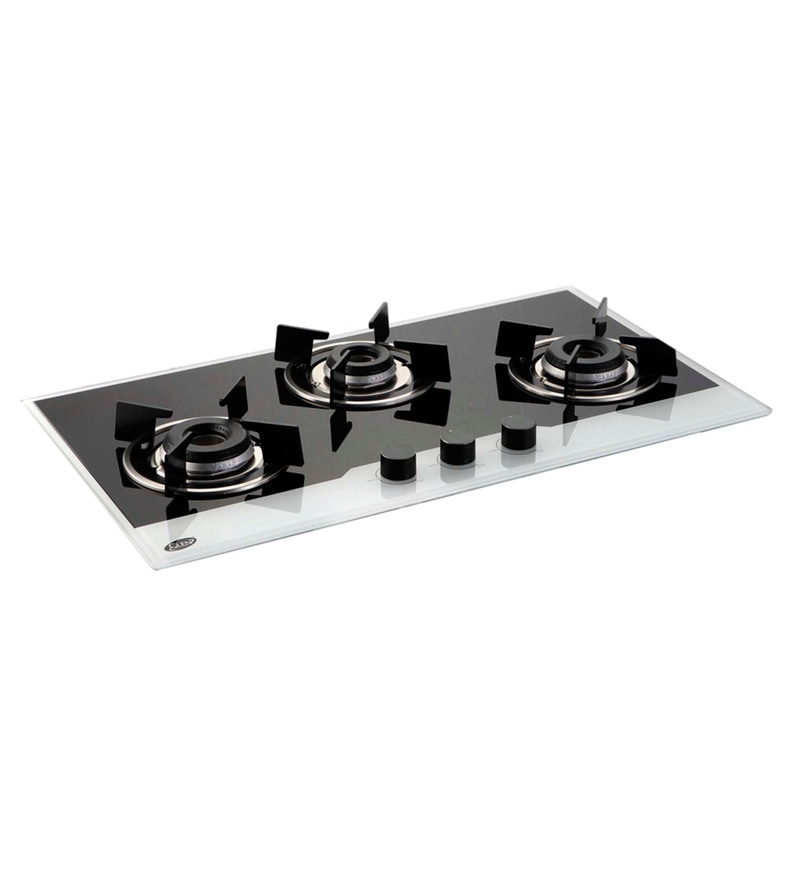 Glen GL-1073-IN-BW Auto-Ignition Toughened Glass Hob