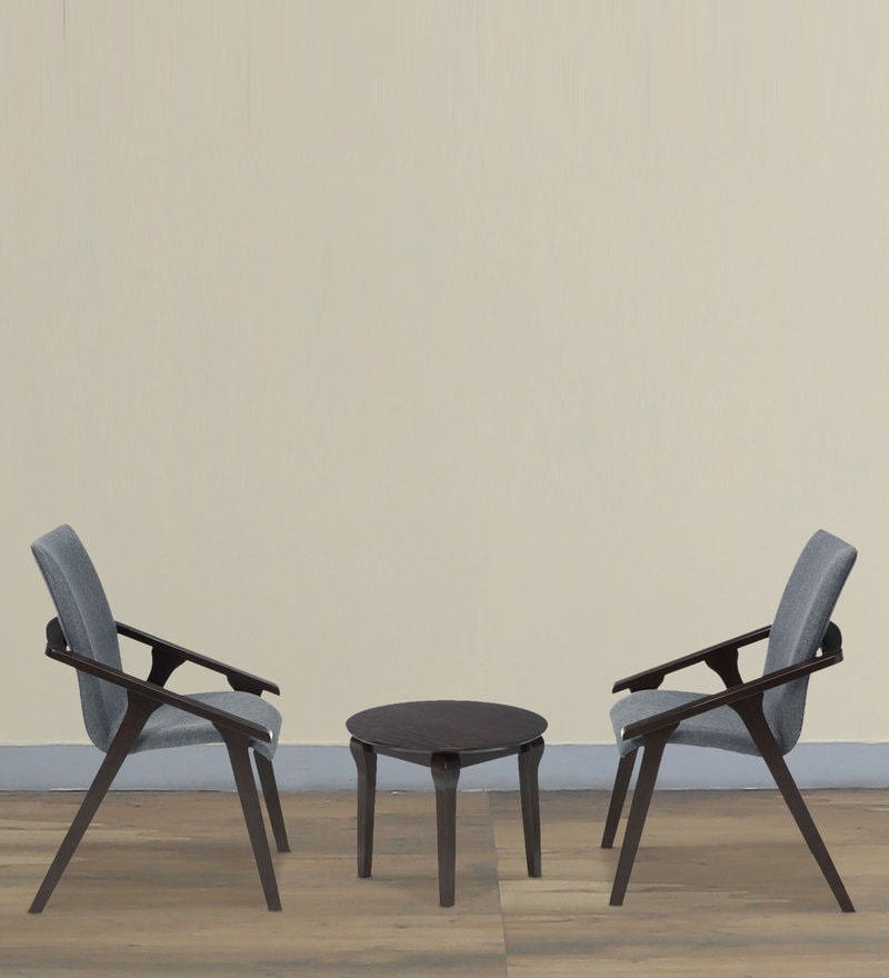 Glenn Coffee Table & Chair Set in Brown Finish by Durian
