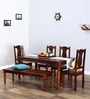 Glydon Six Seater Dining Set in Honey Oak Finish by Amberville
