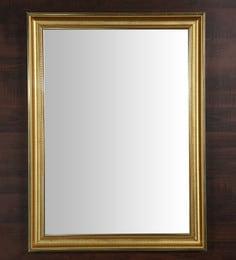 Golden Fibre Framed Decorative Wall Mirror