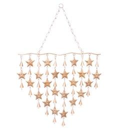 Golden Mild Steel & Brass Mild Steel & Brass Star Wind Chime