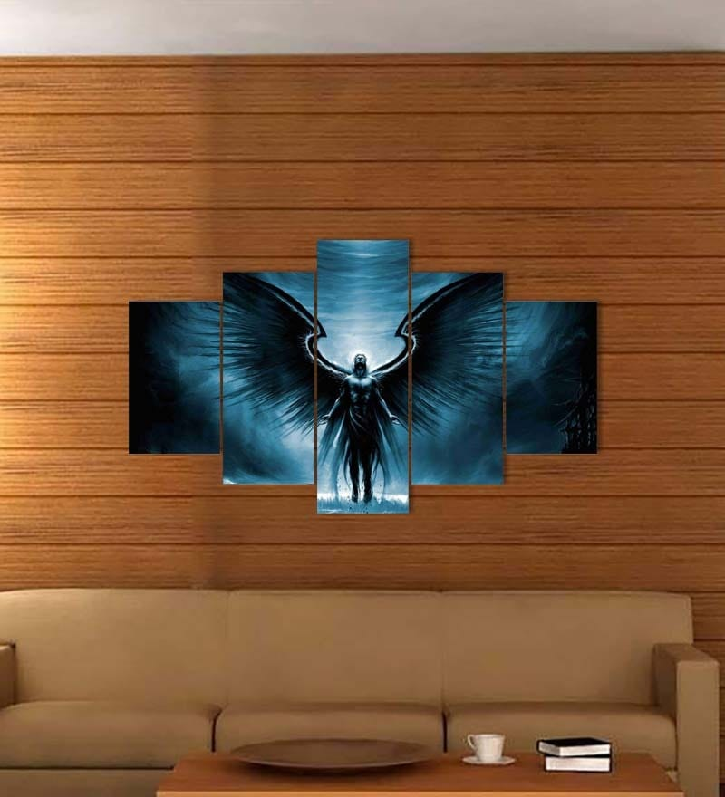 MDF 30 x 18 Inch Angel with Wings Multi-framed Wall Decor by Go Hooked