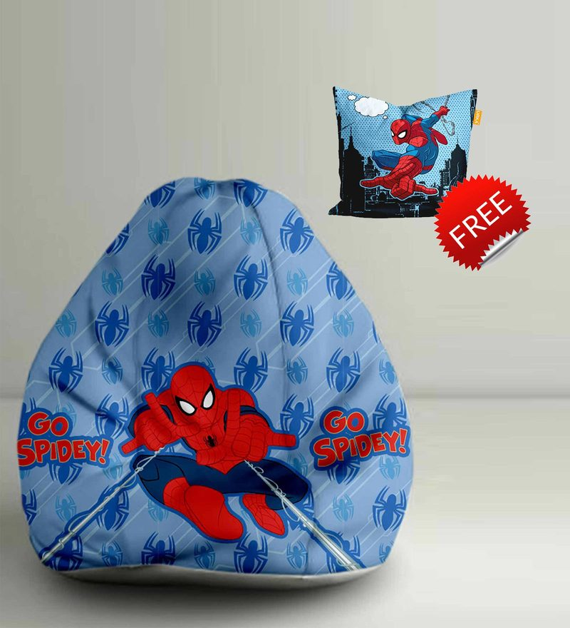 Go SpideyDigital Printed Bean Bag XXL Filled with Beans by Orka(With Small - cushion Inside)