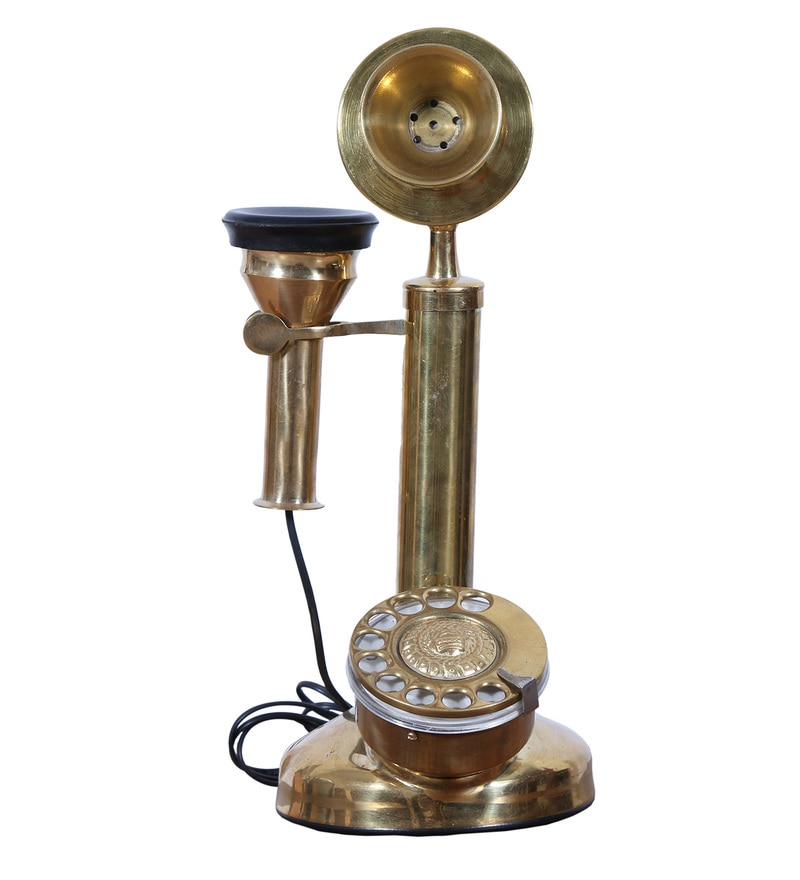 Gold Functional Telephone by Hanumant