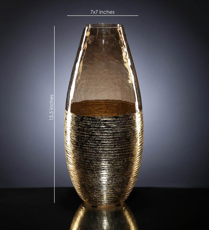 Gold Glass Pumpkin Vase by Global Glory