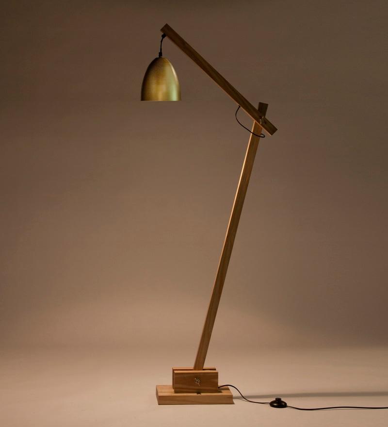 Gold Iron Derry Floor Lamp by Orange Tree