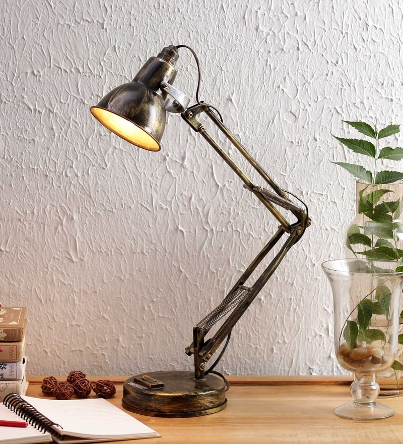 Gold Iron Desk Lamp by New Era