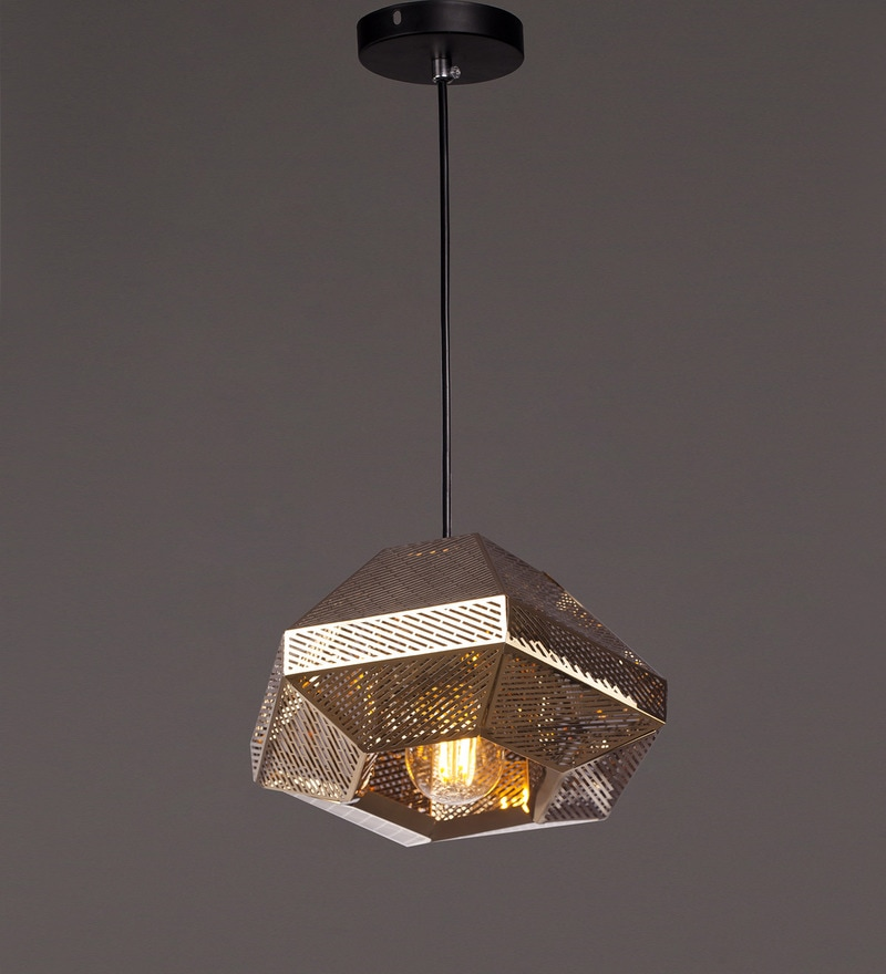 Gold Metal Pendant by Voylite