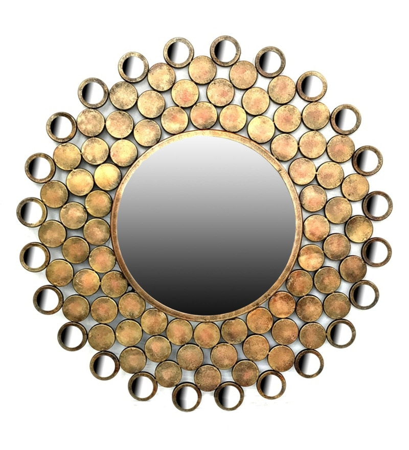 Gold W-Vedic Iron Mirror by Vedas