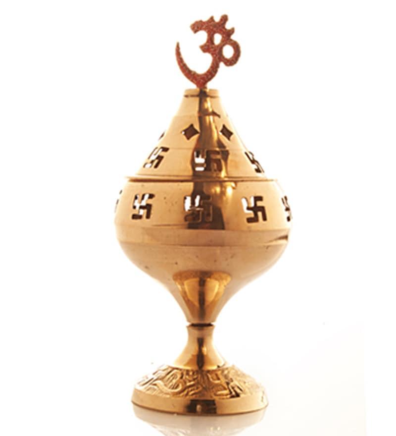 Golden Brass Om Devi Jyot by Frestol