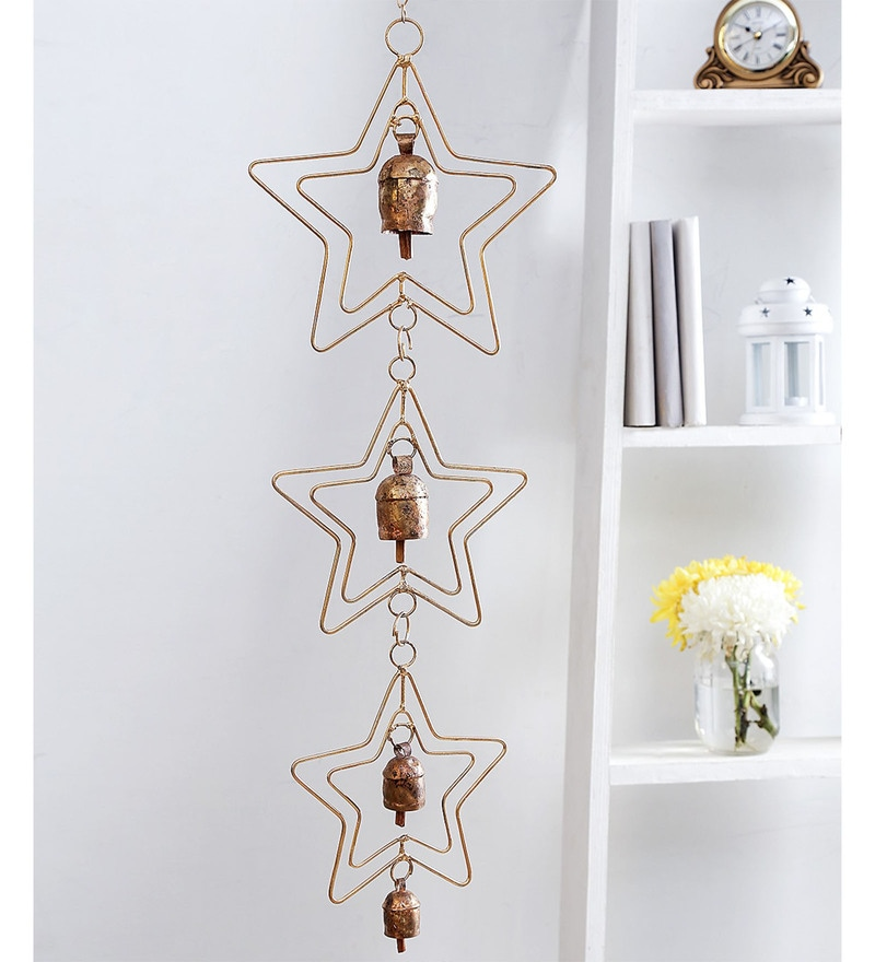 Golden Copper Bells Wind Chime by Unravel India
